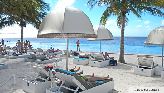 Grote Knip Portemonnee.Stranden Beautiful Curacao